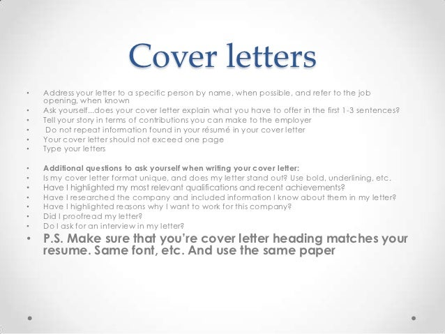 Do You Need A Cover Letter For A Resume ...