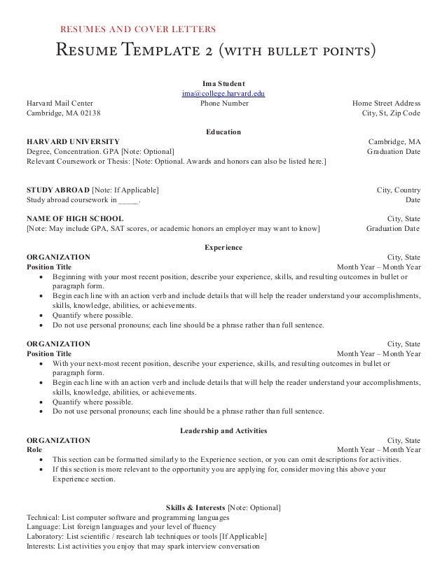 Resume ...  Resume Action Words Harvard