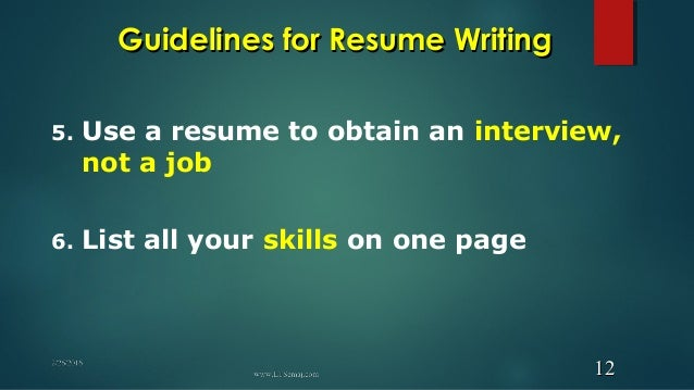 think of your resume as a marketing tool 1111 12