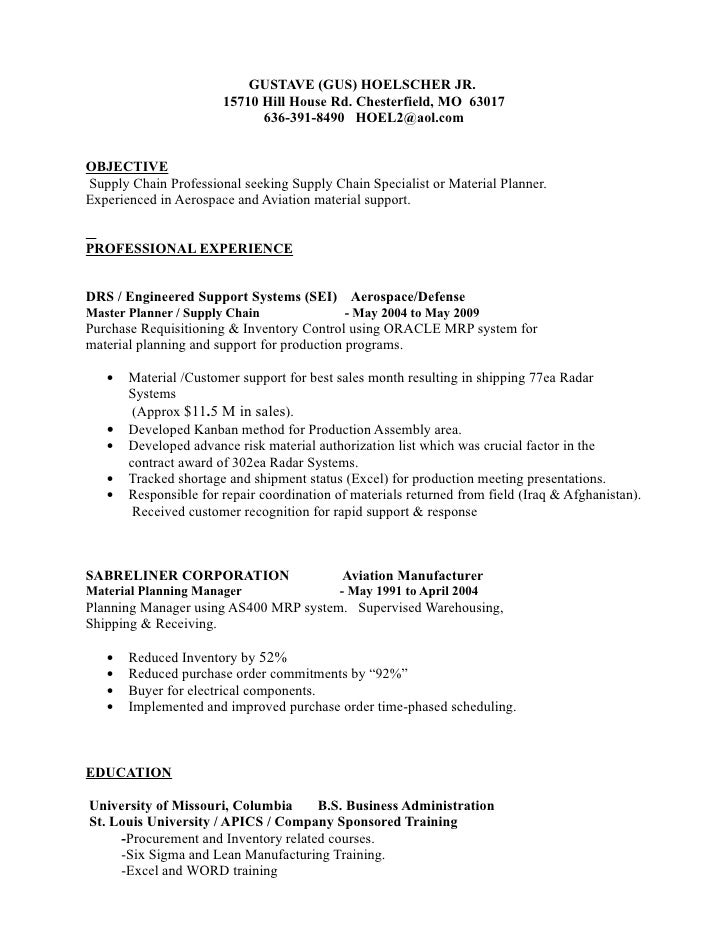 Resume Templates Shipping Receiving Clerk Supply Chain