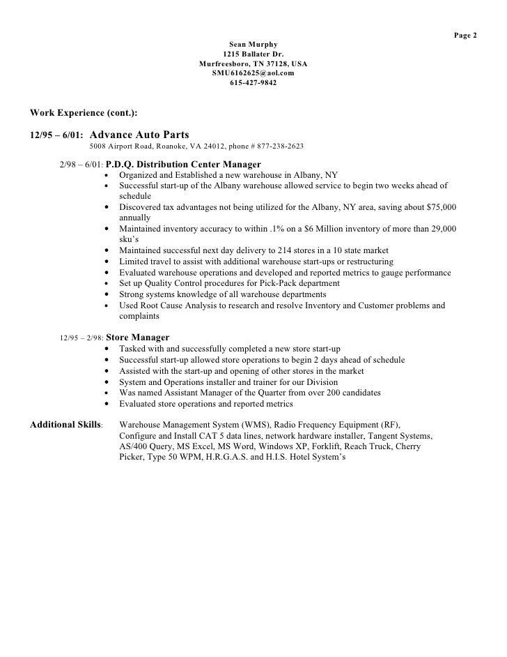Superior Automotive Parts Manager Cover Letter   Sarahepps.com