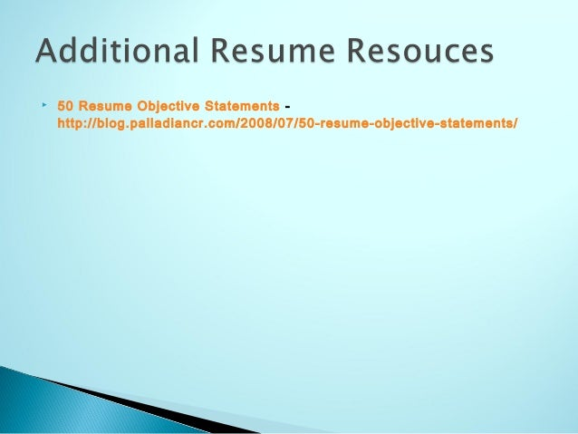 50 Resume Objective Statements - nmdnconference.com - Example Resume ...