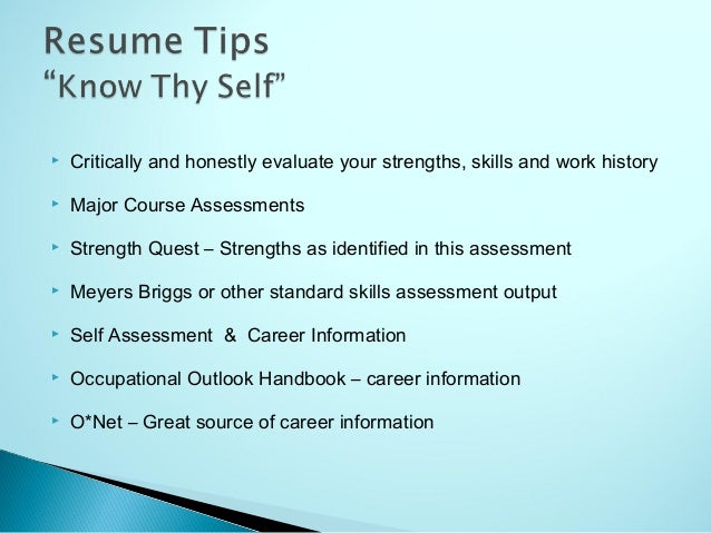 strength in resumes