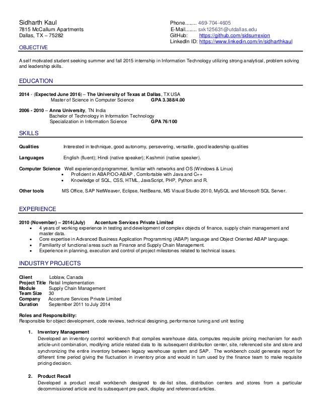 Resume sidharth kaul_four