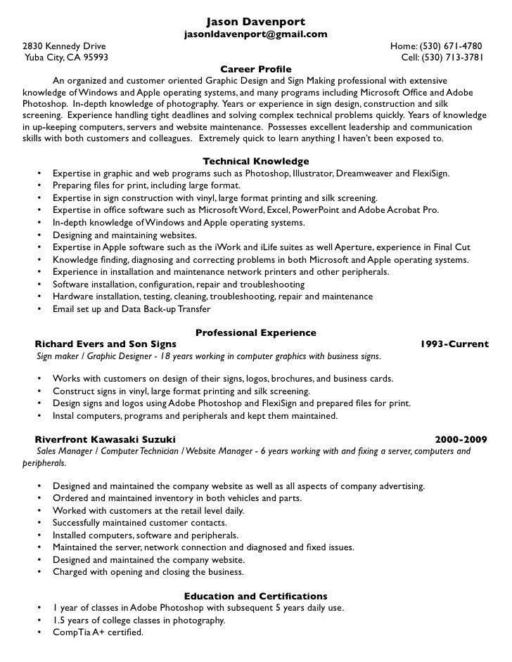 Resume Sign