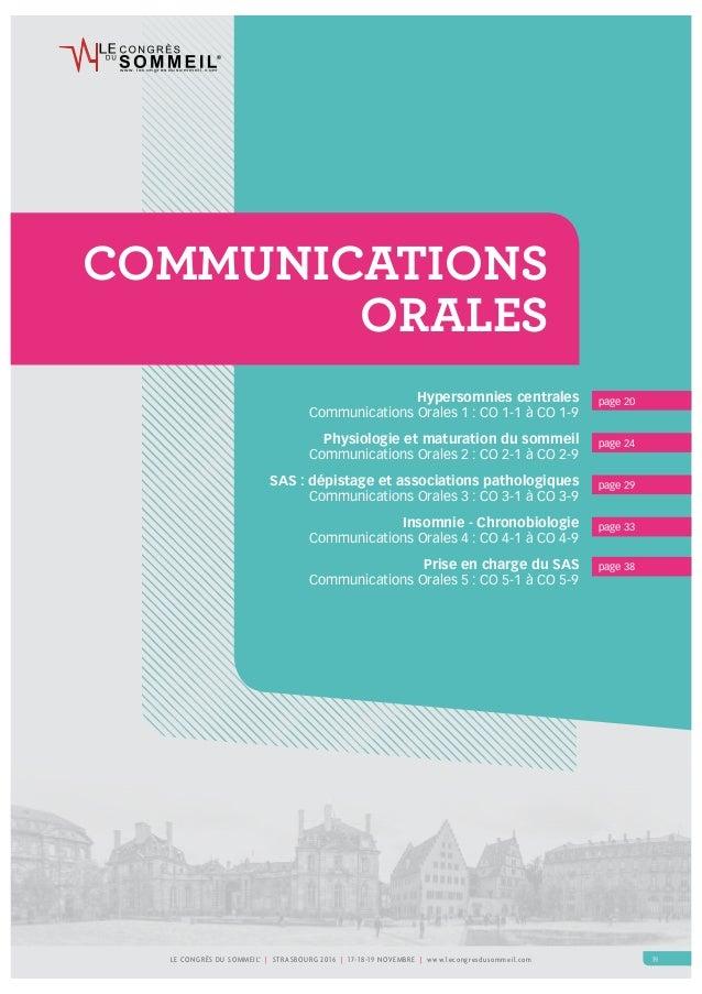 w w w . l e c o n g r e s d u s o m m e i l . c o m LE CONGRÈS DU SOMMEIL® | STRASBOURG 2016 | 17-18-19 NOVEMBRE | www.lec...