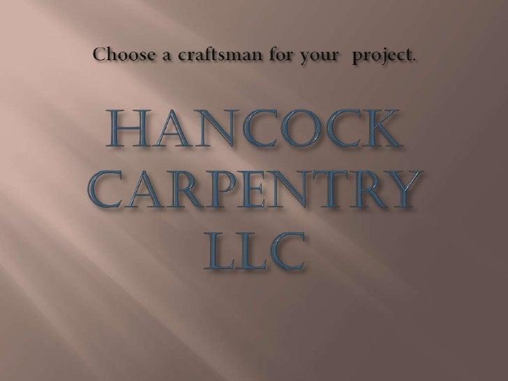 Choose a craftsman