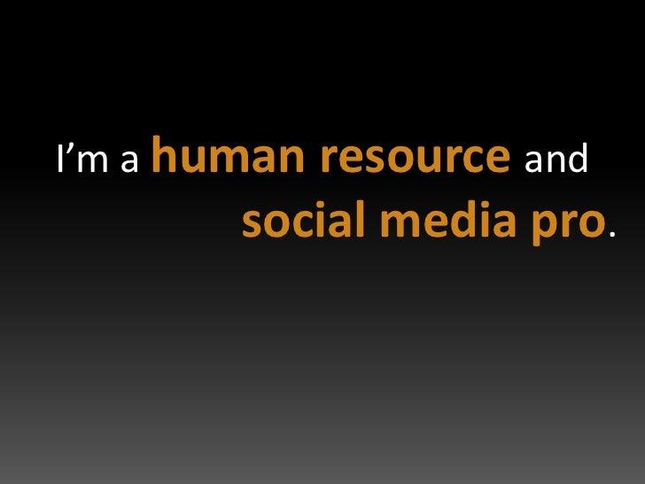 Social Media Resume Slide 2