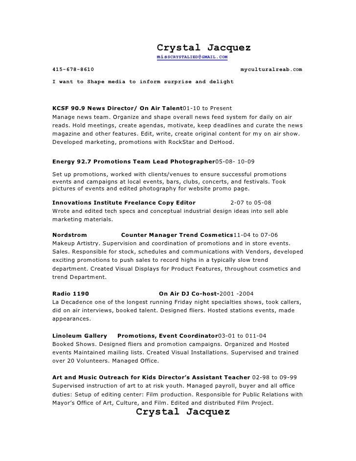 Resume spring 2011