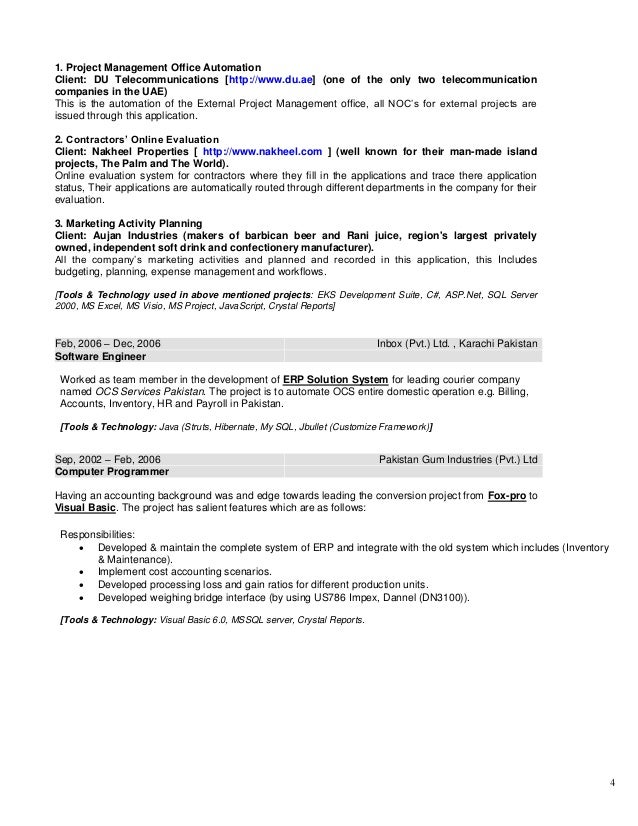 Resume Sr Solution Designer