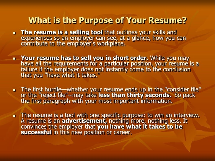 Perfect SlideShare Within Resumes That Sell You