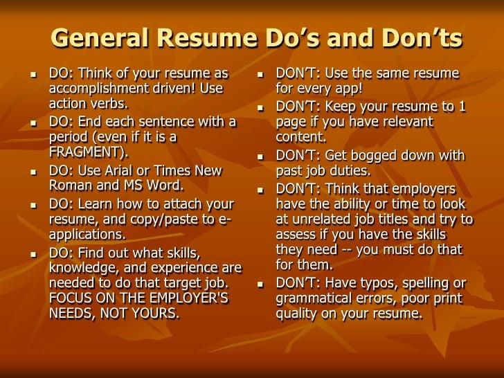 <br />; 4. General Resume ...