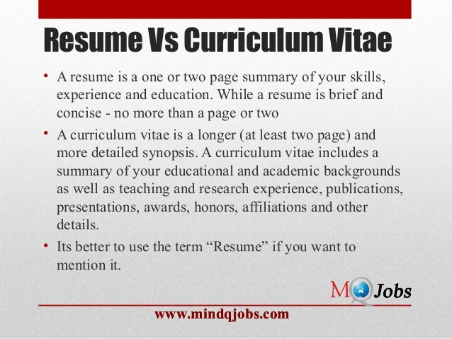 Resume ...  Resume Structure