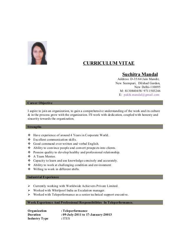 Resume Suchitra