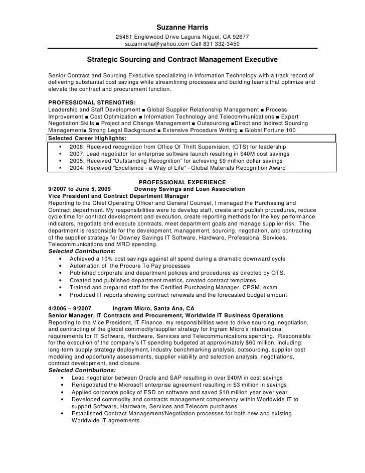 Contract Manager Resume Pdf - Contegri.com