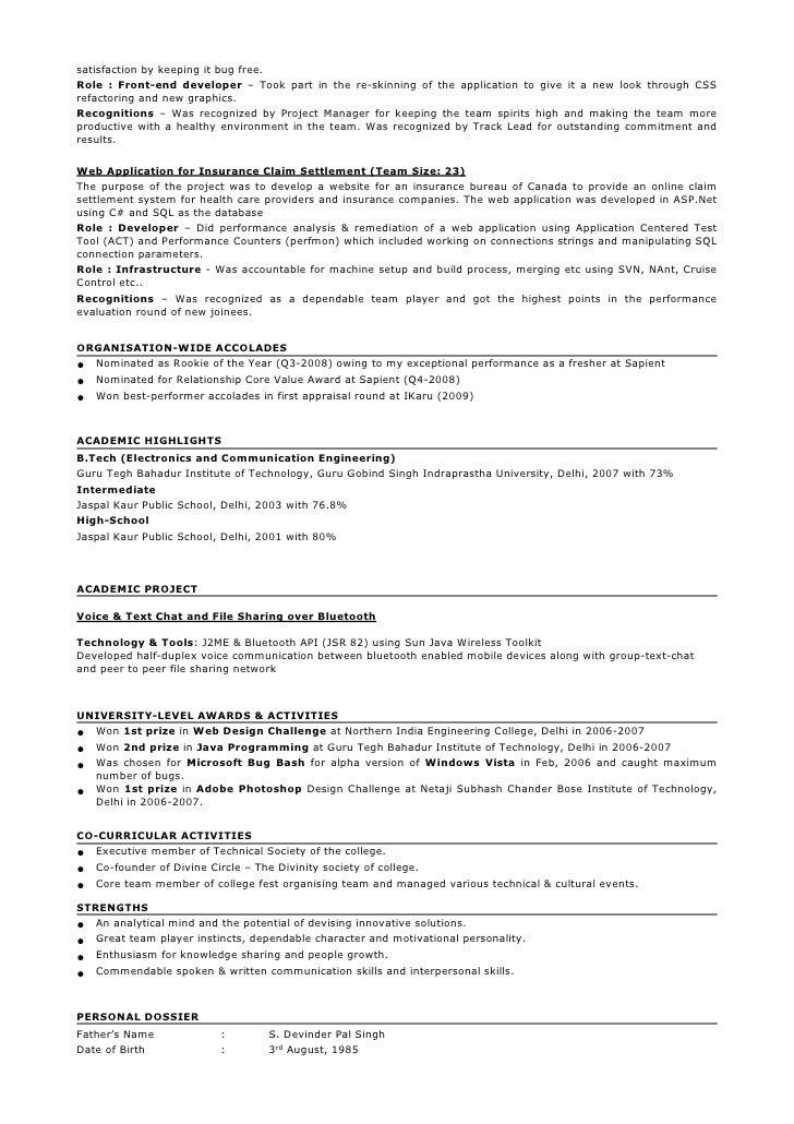 Resume - Taranjeet Singh - 3.5 years - Java/J2EE/GWT