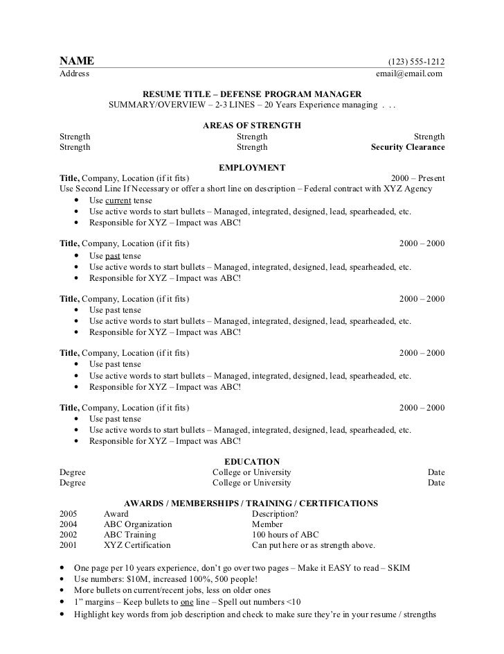 Ultimate Resume Template