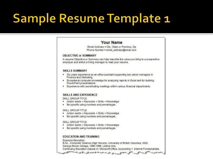 resume template ways of resume writing