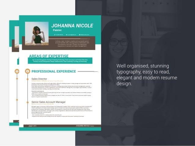johanna resume template creative cv