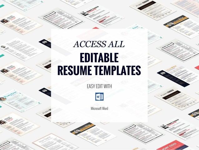 social facebook resume template creative cv
