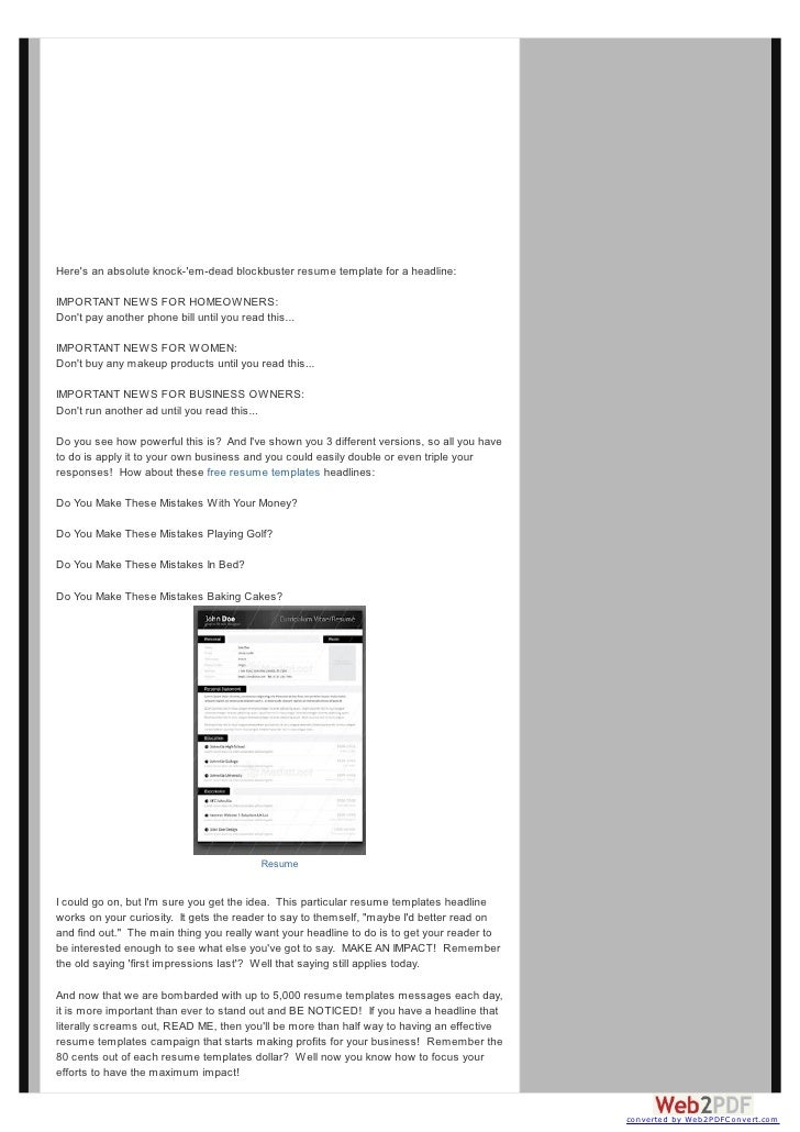 how to use free online resume templates