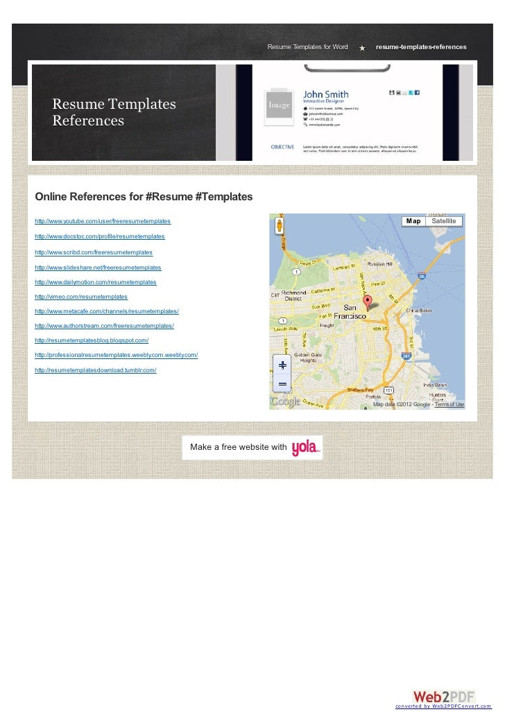 Resume Templates for Word    resume-templates-references      Resume Templates      ReferencesOnline References for #Resum...