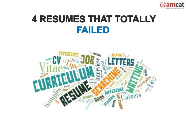 resume that totaly failed