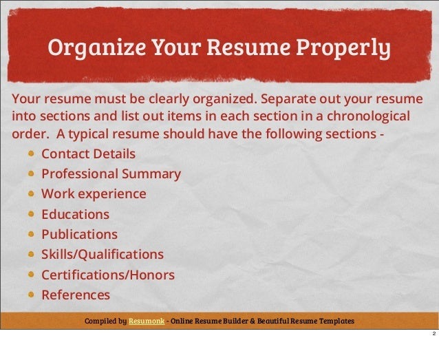 Marvelous SlideShare With Tips On How To Write A Resume