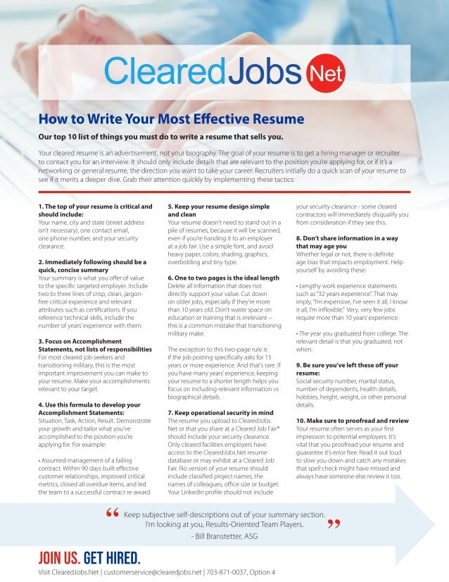 How to Write Your Most Effective Resume