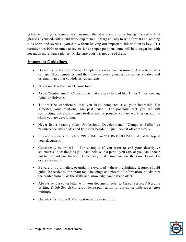important resume tips - Kubre.euforic.co