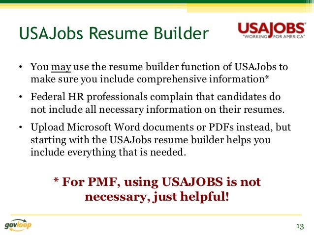 usajobs resume builder