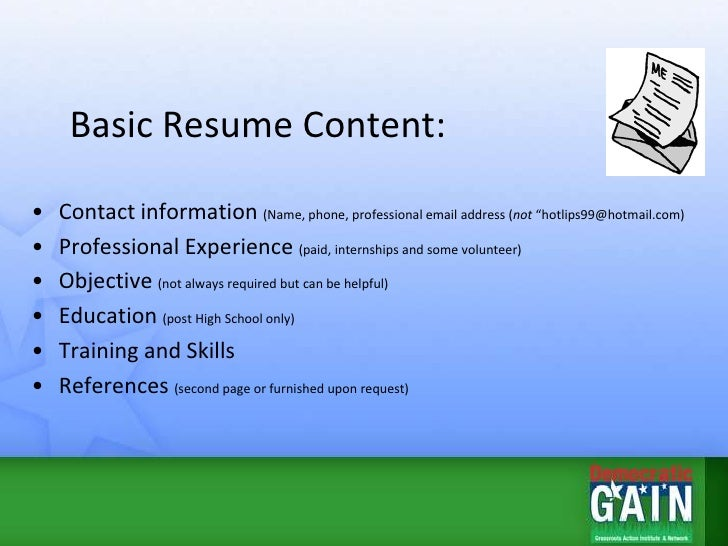 Resume, Job Search U0026 Networking Tips; 2.  Resume Tips