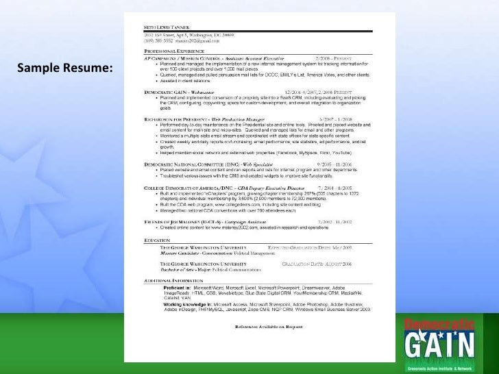 resume tips presentation