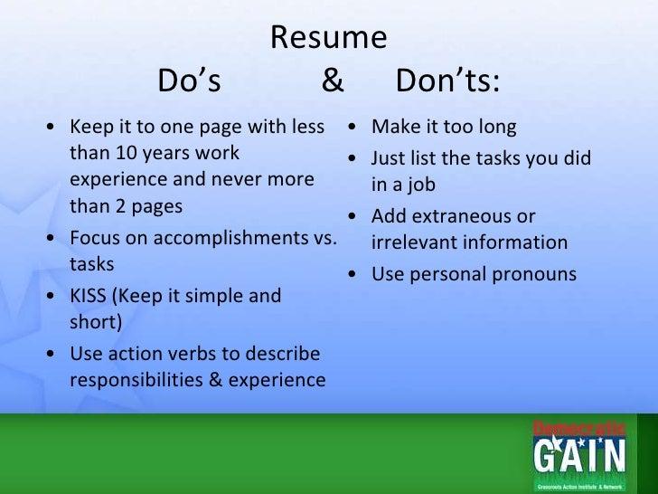 resume tips presentation