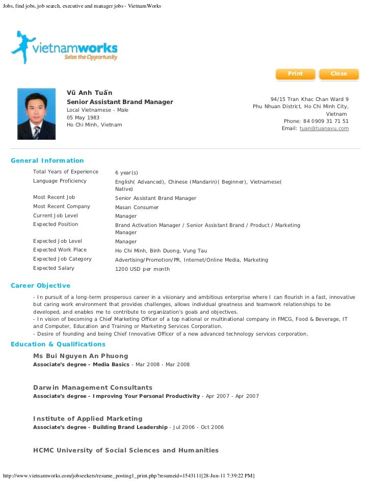 Jobs, find jobs, job search, executive and manager jobs - VietnamWorks                                                    ...