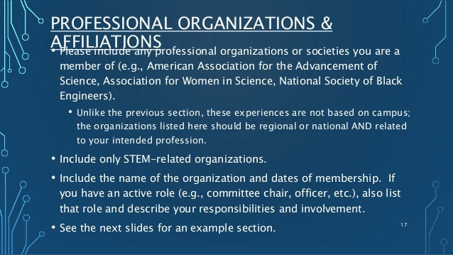 list of professional organizations