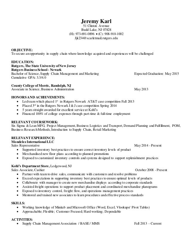 Resume Update Jeremy Karl