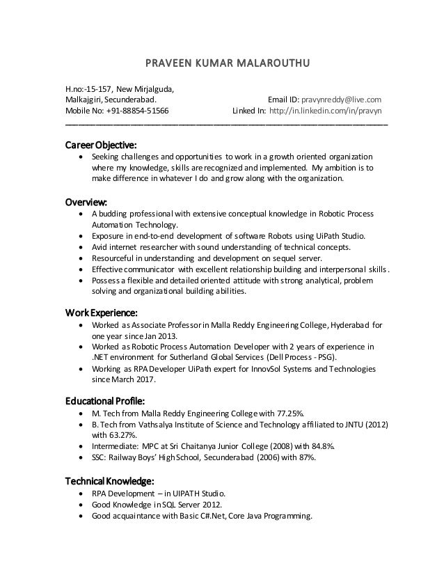 resume up version