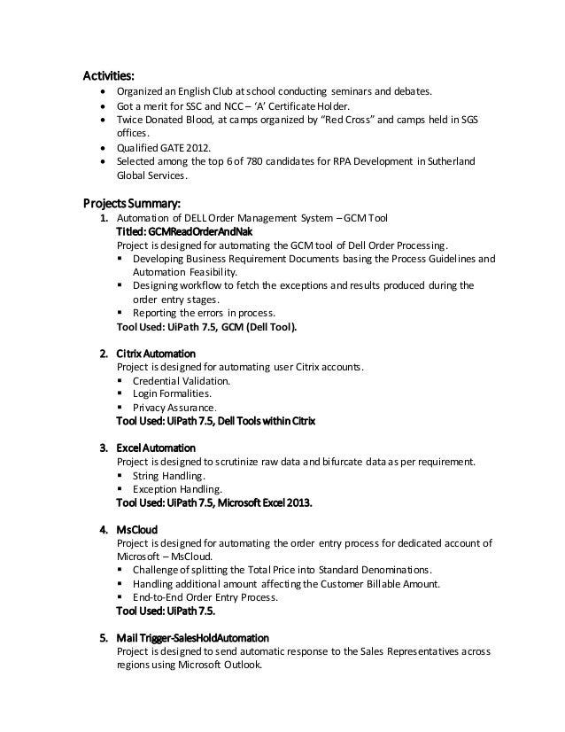 Resume up version