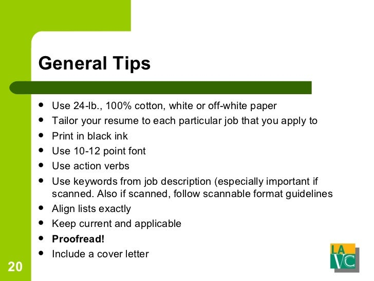 Cover Letter Verbs