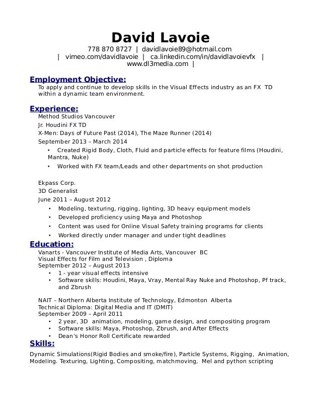 junior compositor resume