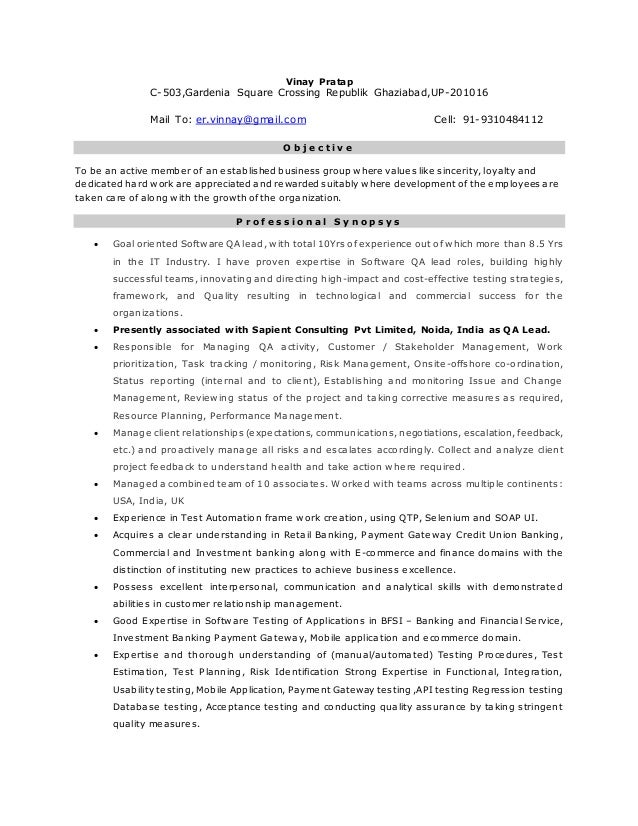 Senior Technical IT Manager Resume Example  Quality Assurance Manager Resume