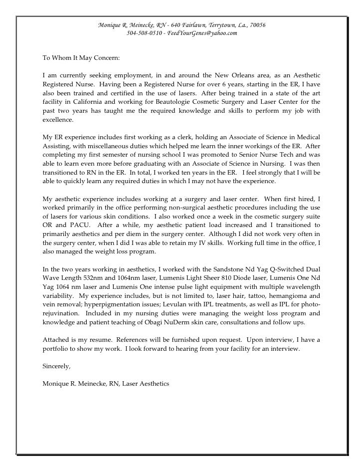 Cover Letter For Dermatology Physician Assistant - Cary ...