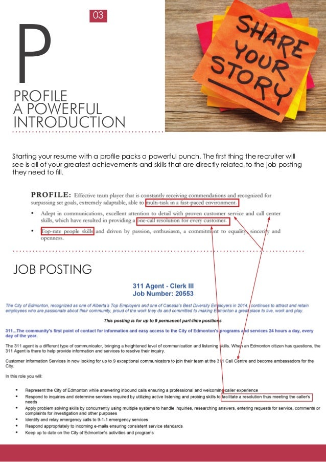 how to start a resume for a job