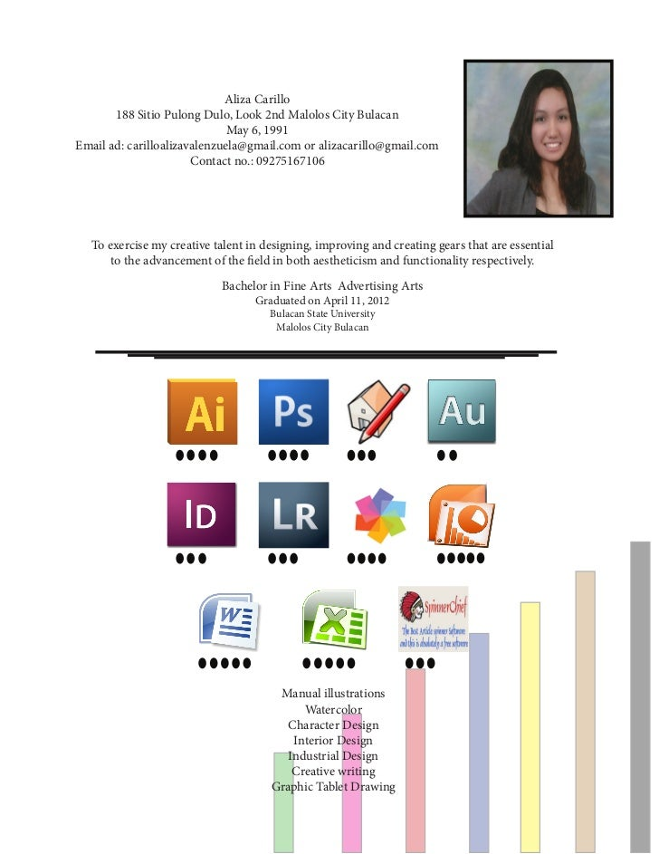 Resume Of Aliza Carillo A Fresh College Graduate