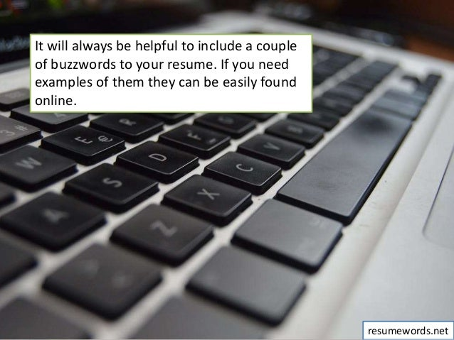 the power of buzzwords  what good words to use in resume