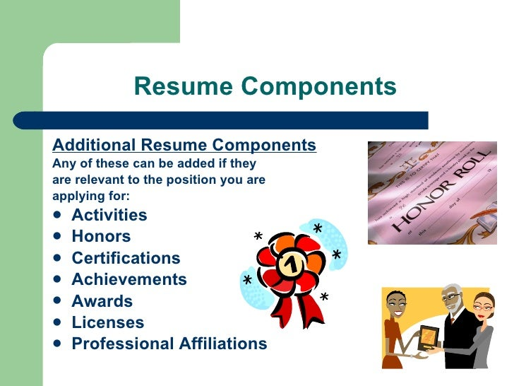 resume components