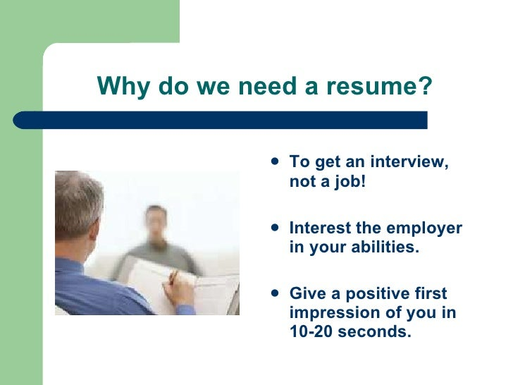 Do I Need A Resume. Resume Workshop .  I Need A Resume