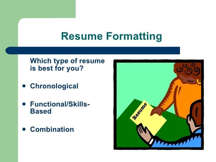 resume formatting - Resume Workshop