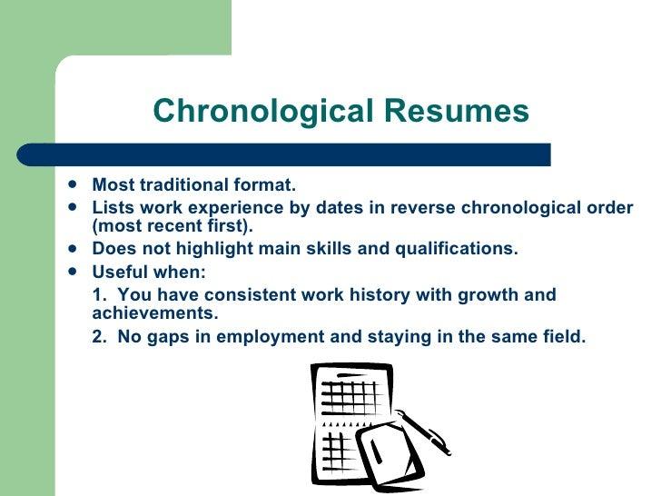 6 chronological resumes - Resume Workshop